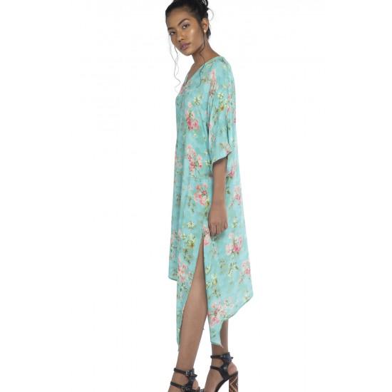 Kaftan inspired dress with side slit detailing