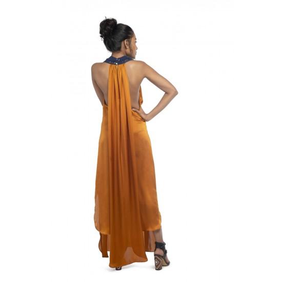 Macrame detailing maxi dress