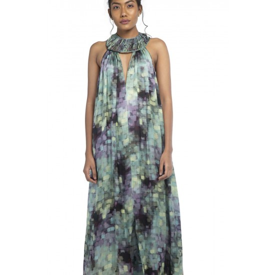 Macrame detail maxi dress